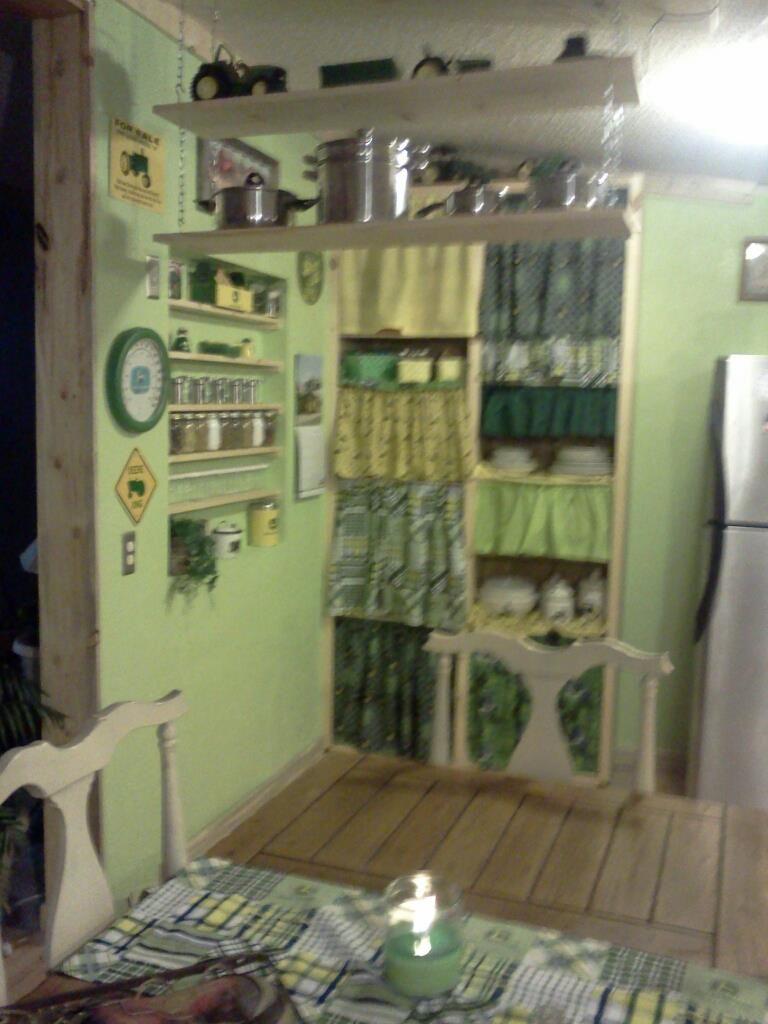 my john deere kitchen with pantry work in progress. | rustic