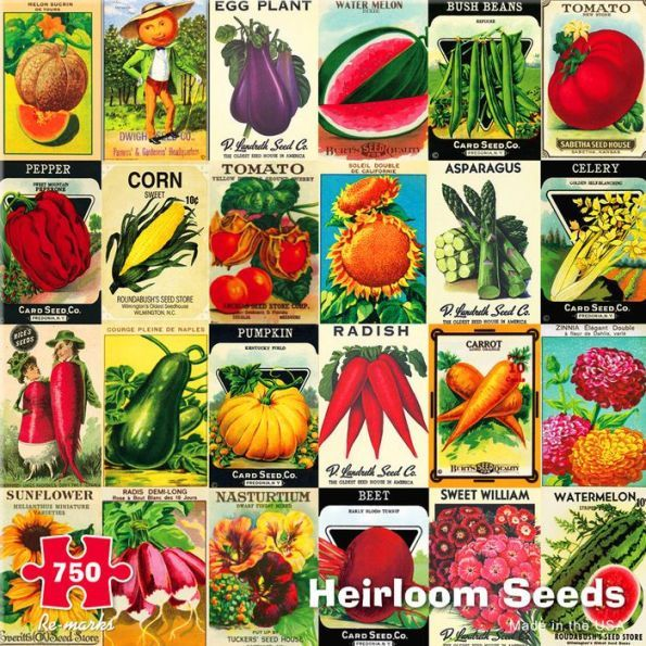Heirloom Seeds 750 Piece Jigsaw Puzzle Heirloom seeds