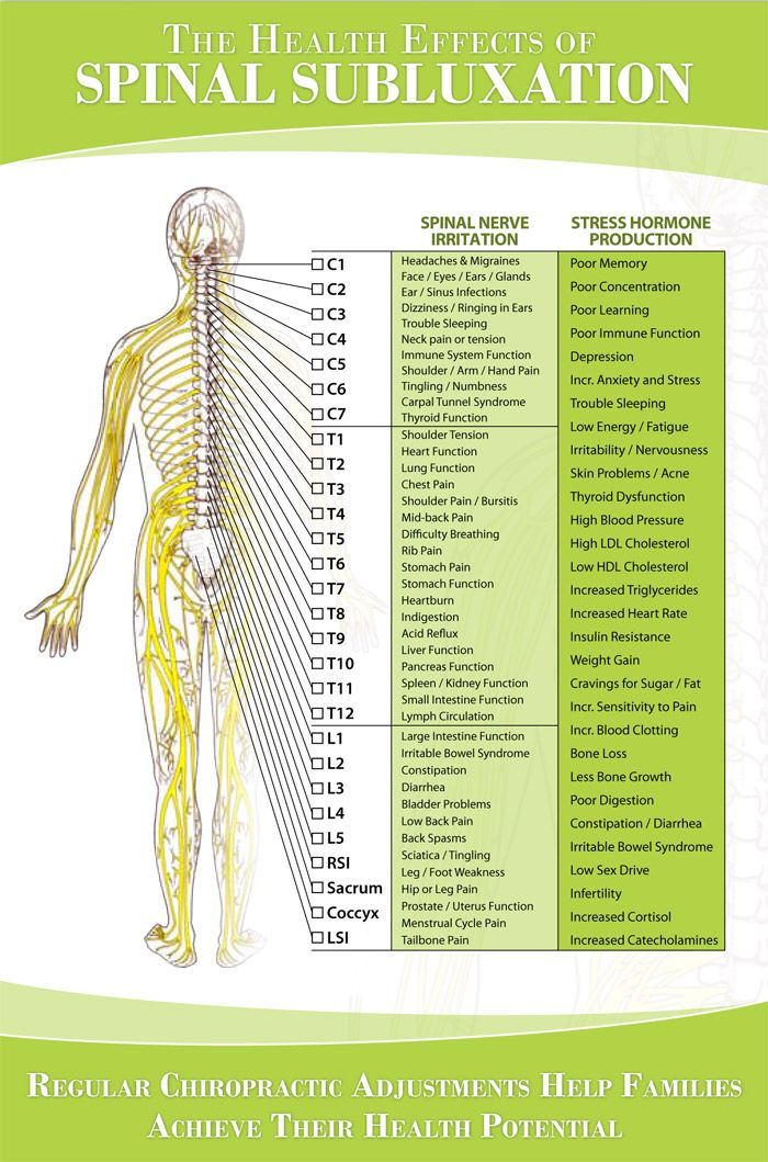 spinal nerve chart: Nerve chart great chart showing how spinal nerve irritation