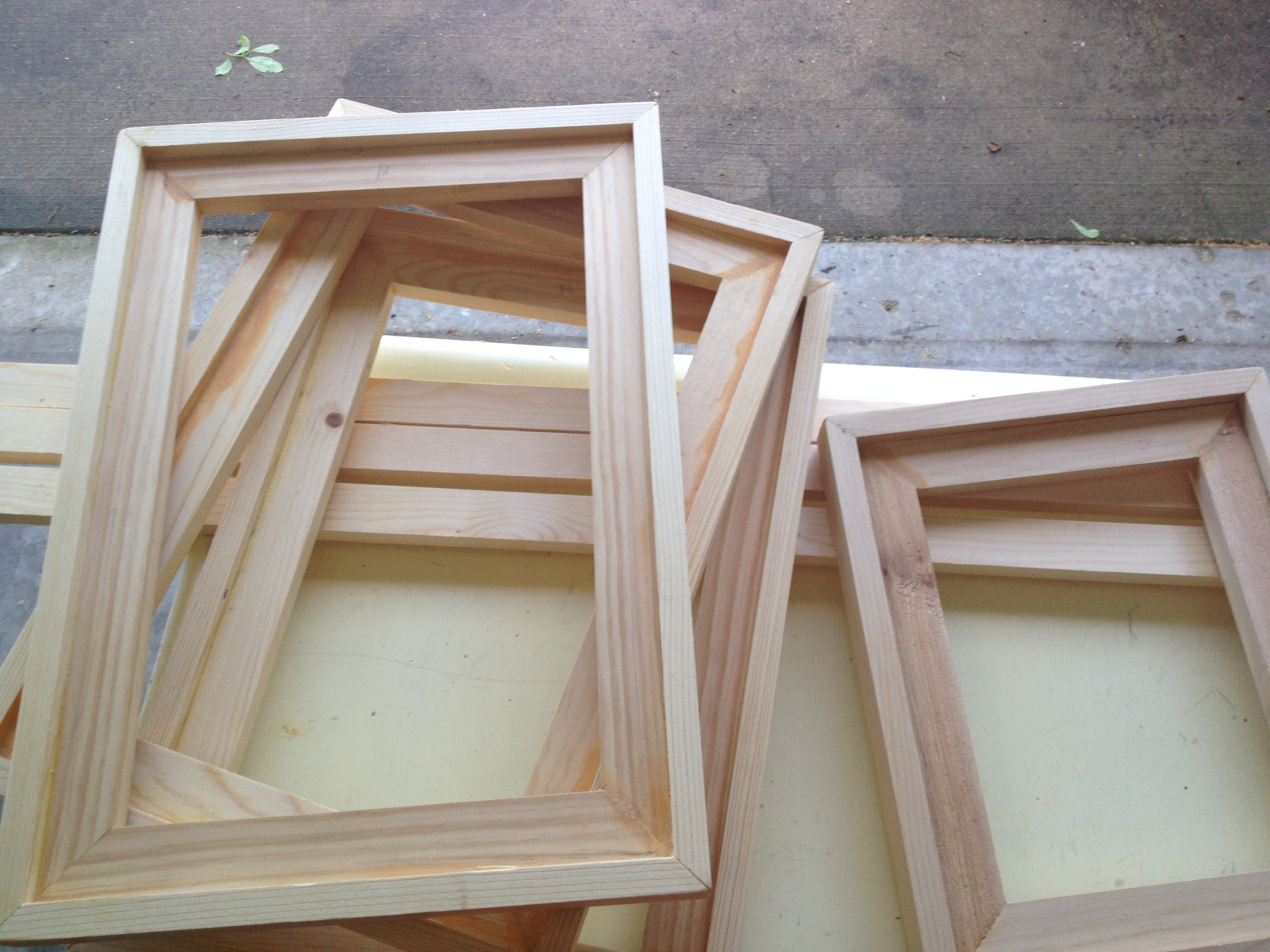 I have always wanted to make my own frames. It was time for some n ...