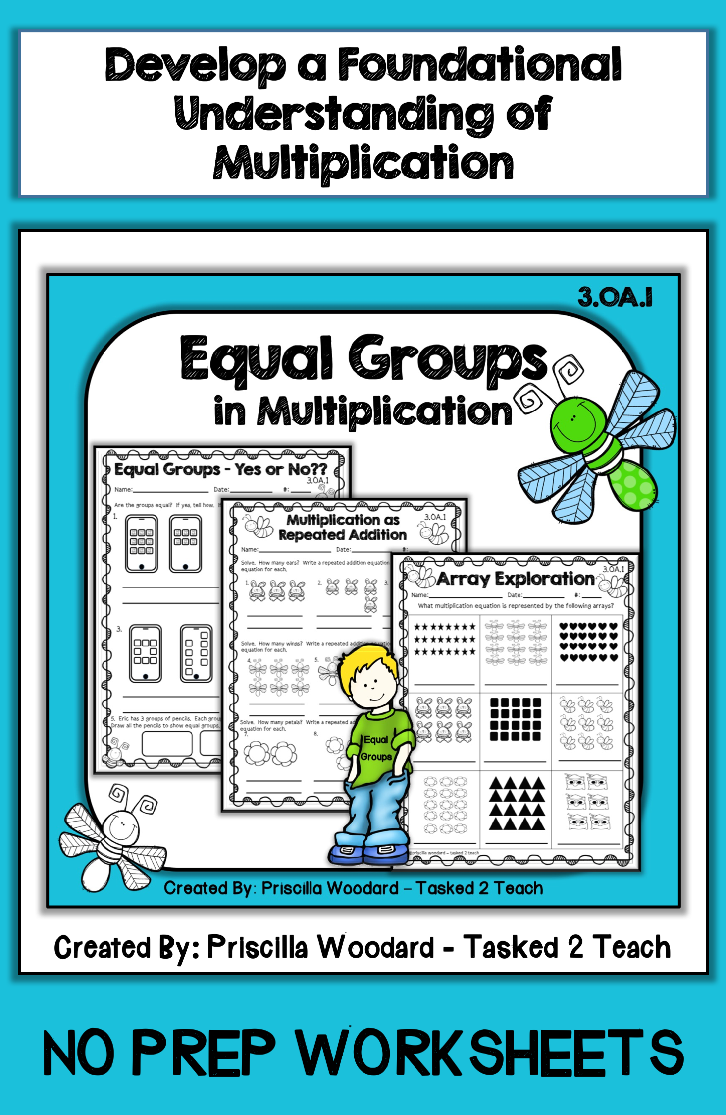 Equal Groups In Multiplication 3rd Grade 3 Oa 1 Priscilla Woodard