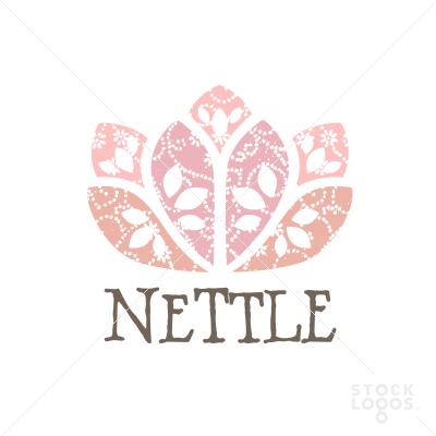 nettle flower logo   StockLogos.com