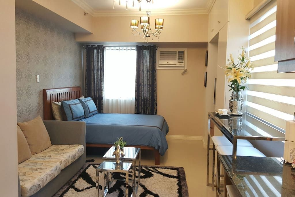 Luxurious Room With Wifi Cable Apartments For Rent In Quezon