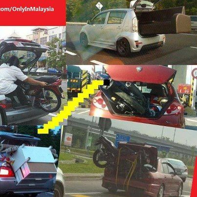 Like a boss. Only in Malaysia