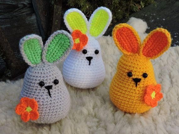 Amigurumi Bunny Pencil Holder : Amigurumi crochet pattern easter bunny crochet rabbit e book