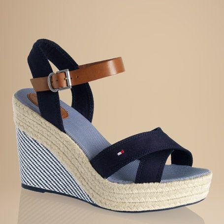 serena sandal wedges from tommy hilfiger my style. Black Bedroom Furniture Sets. Home Design Ideas