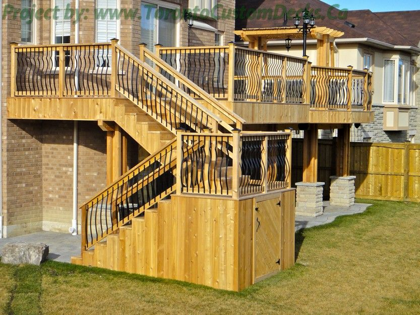 Cedar Deck With Pergola   Toronto Decks Design U0026 Deck Building Company,  PVC, Azek And Cedar