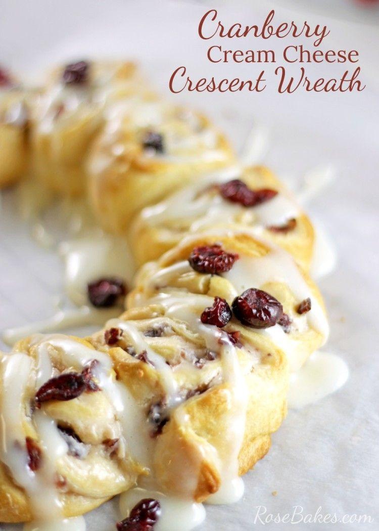 Cranberry Cream Cheese Wreath