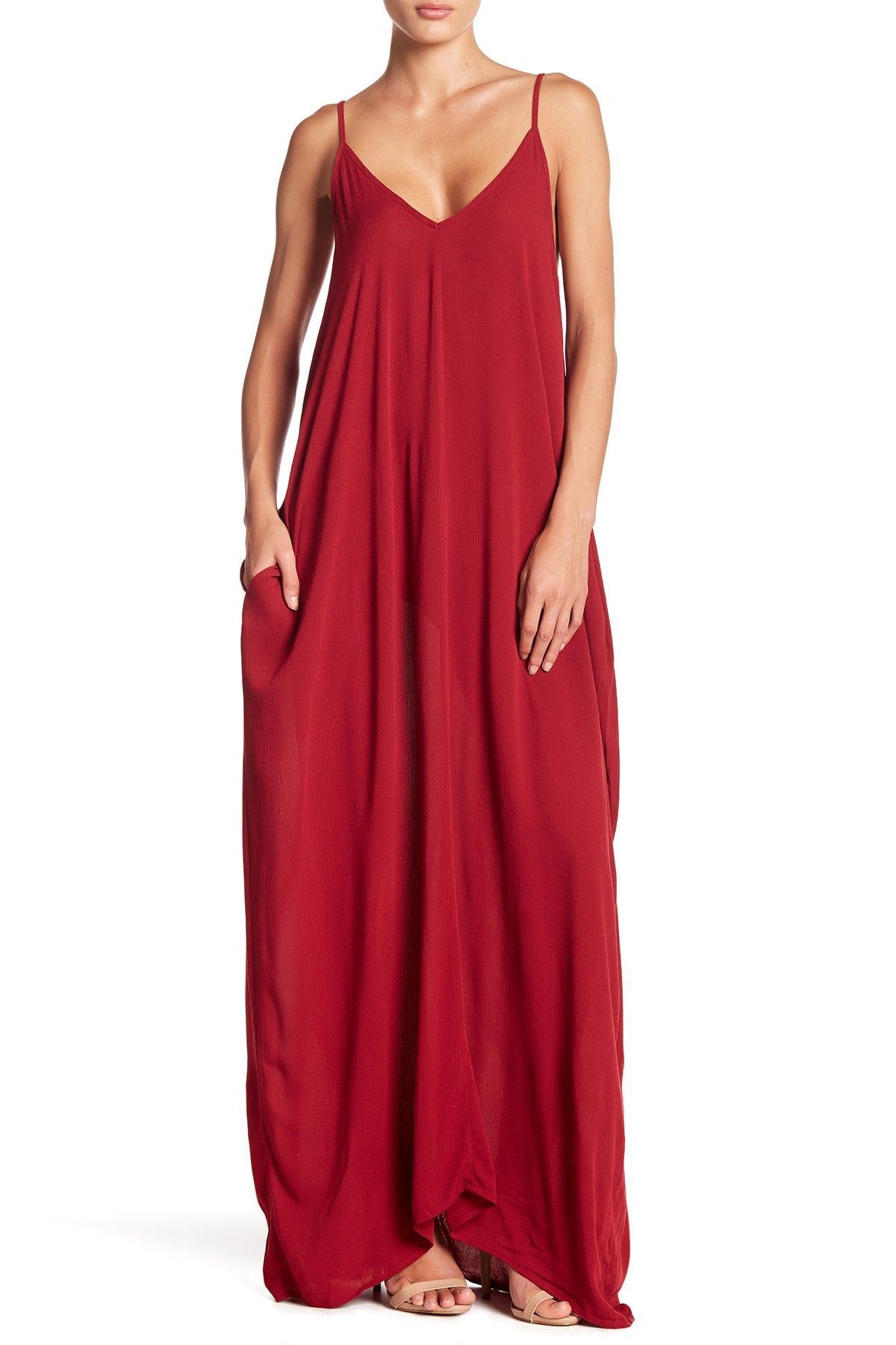 8856bcd6491 V-Neck Sleeveless Gauze Maxi Dress in 2019 | Fashion | Nordstrom ...