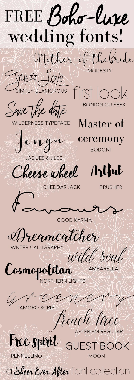 FREE Boho Luxe Wedding Fonts