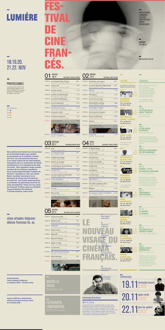 뤼미에르 영화페스티벌 graphic design Pinterest Layouts