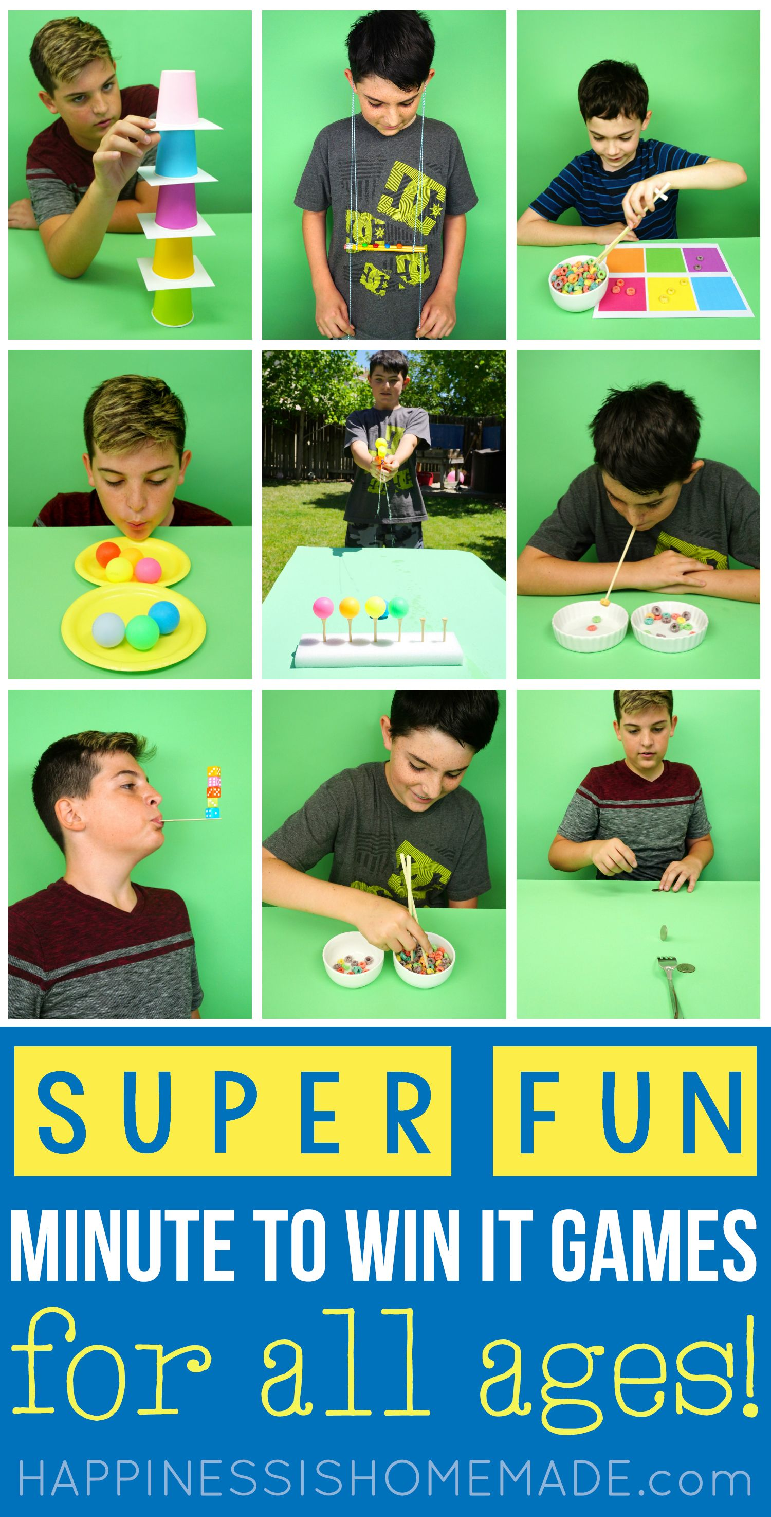 Fun Minute To Win It Games That Are Great For Kids, Teens, Adults,  Groups Of All -7099