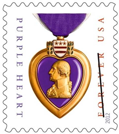 Most Beautiful Us Stamps Are Awed By The Men And Women Who Serve This Country The Latest Stamp With Images Purple Heart Medal Purple Heart Day Forever Stamps