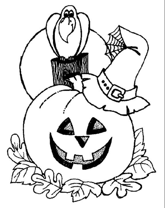 Free Printable Halloween Coloring Pages For Kids | 724x575