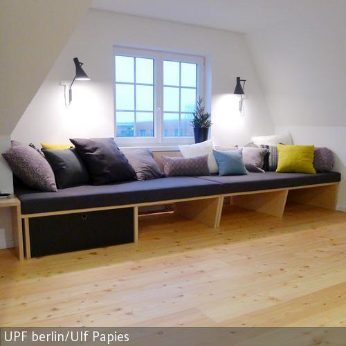 gemütliche Sitzbank XL mit Stauraum - ella blau: UPF möbel ...