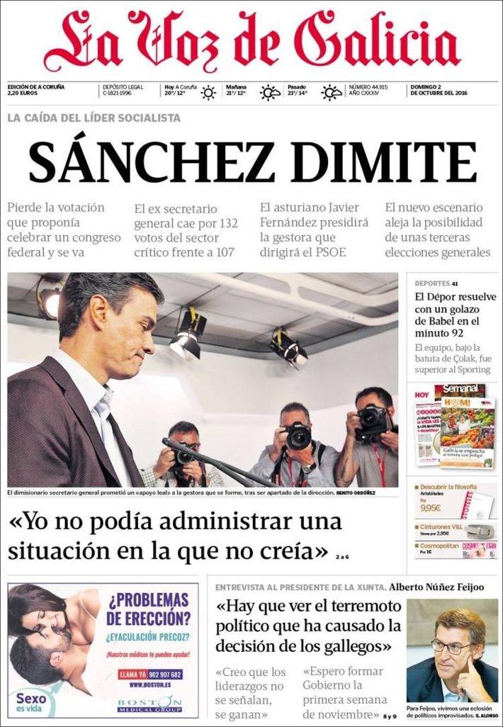 Portada De Hoy Del Diario La Voz De Galicia Covertimes La Voz Portadas De Periodicos Portadas