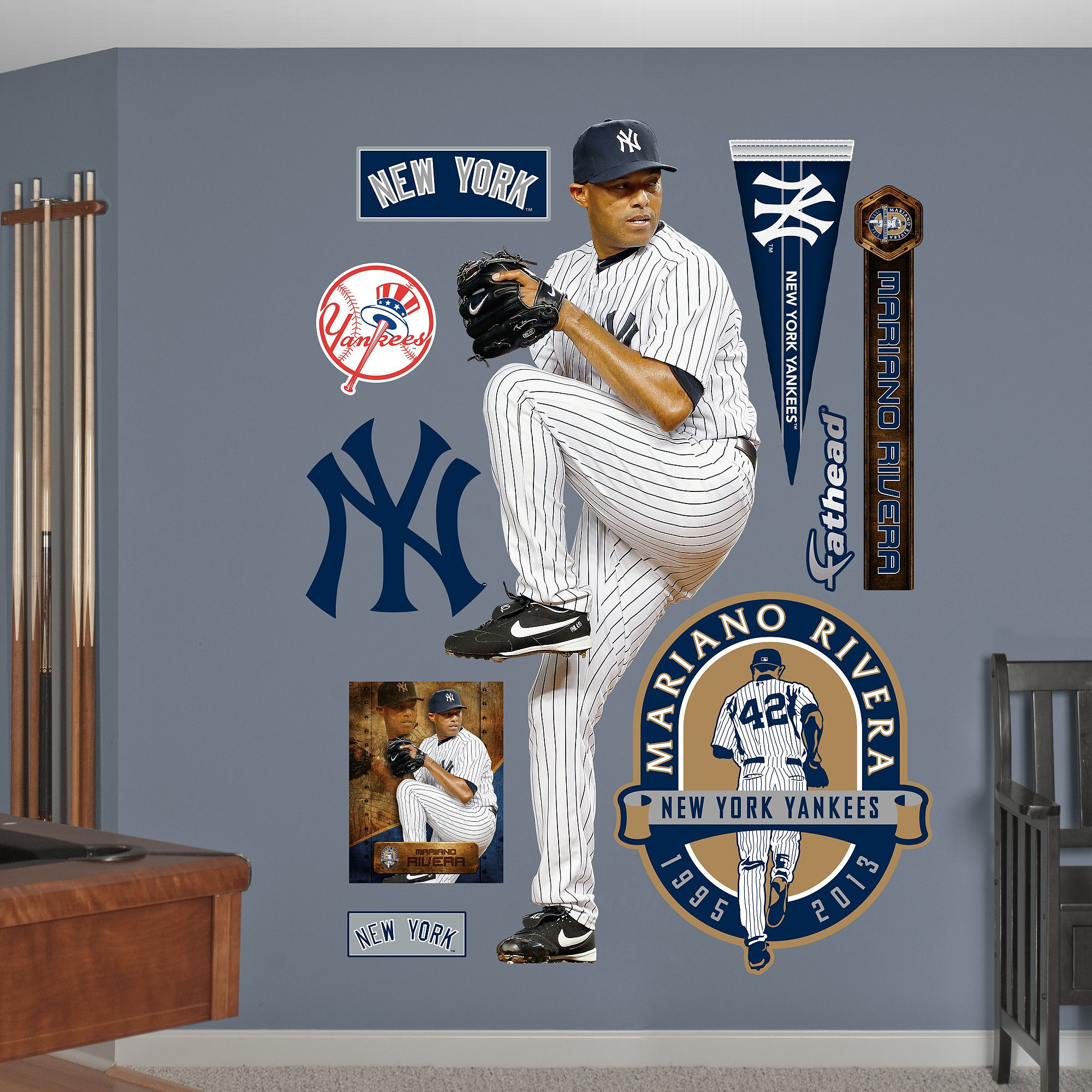 Mariano Rivera Legacy New York Yankees New York Yankees Yankees Kids Baseball Room