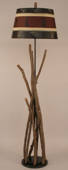 Red Twig Floor Lamp - Roughing It In Style Lighting