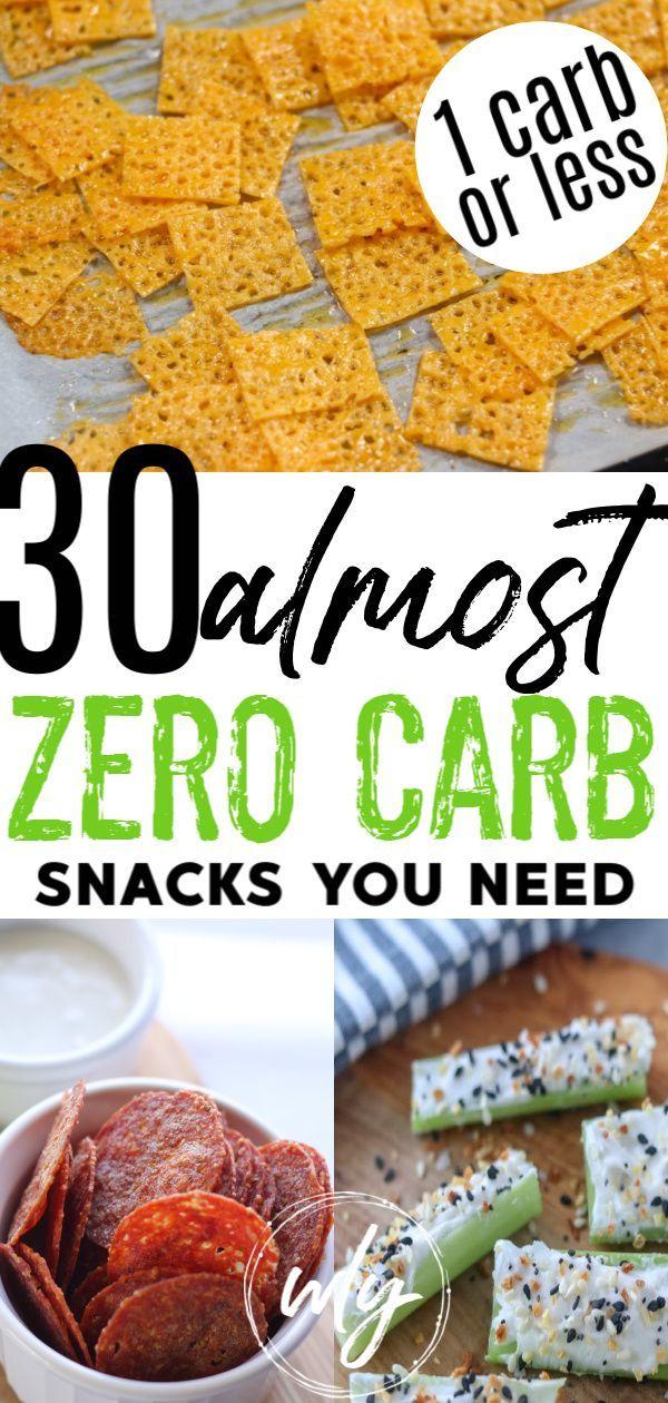 30 No Carb Snacks to Buy and Make #Snacks #Make #No