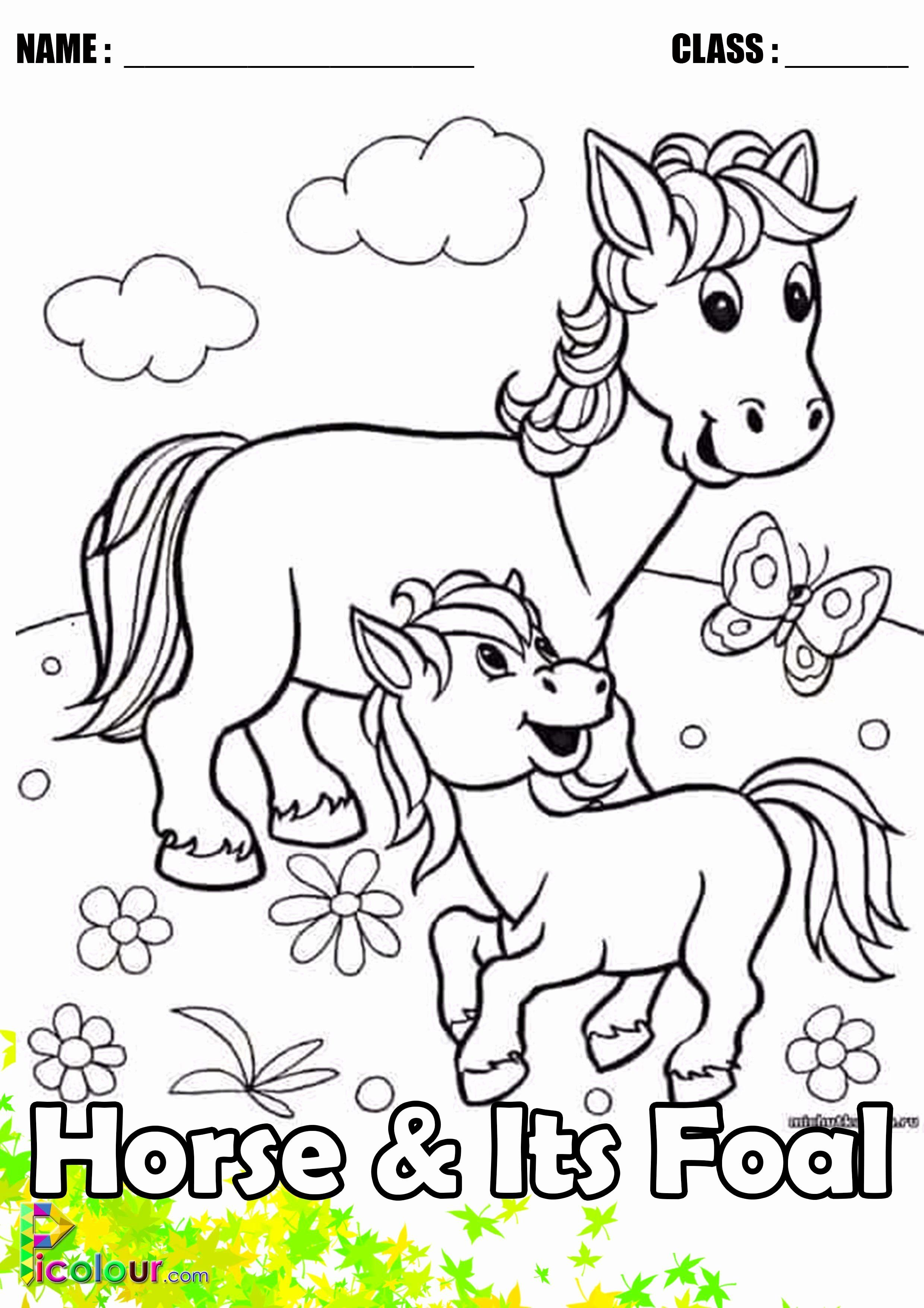 Coloring Book Animals Download Unique Funny Horse Mother And Its Foal Colouring Pages For Kids Animal Coloring Pages Farm Animal Coloring Pages Coloring Books [ 3508 x 2480 Pixel ]