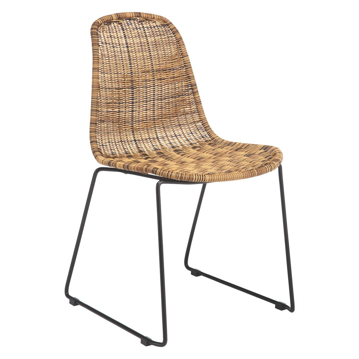 Acapulco chair cb2 - Mickey Synthetic Rattan Dining Chair