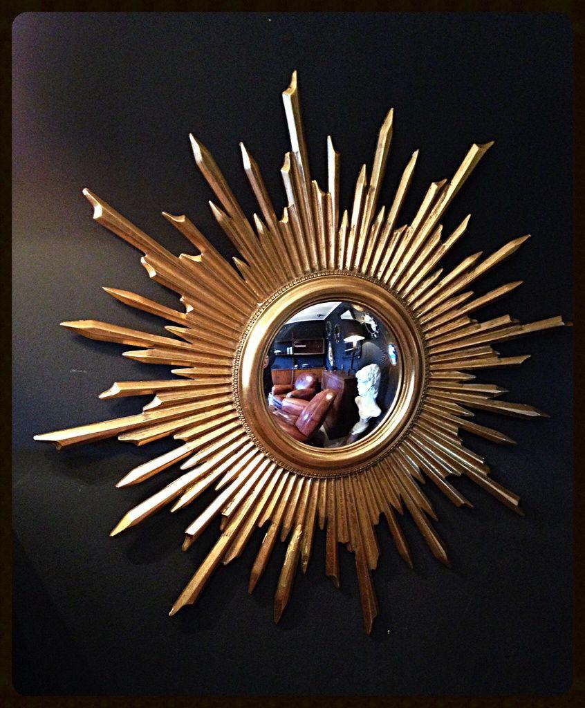 miroir soleil miroir sorci re miroir convexe bois dor diam tre 78cm diam tre oeil 17cm. Black Bedroom Furniture Sets. Home Design Ideas