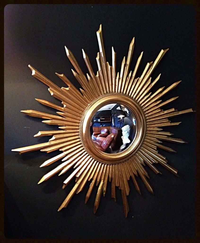 Miroir Soleil Miroir Sorci Re Miroir Convexe Bois Dor Diam Tre