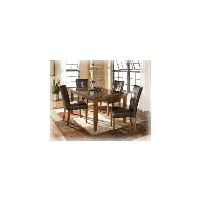 Lacey Rectangular Dining Room Table 4 UPH Side Chairs The Rich Contemporary Design Of