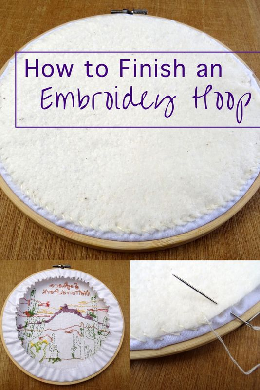 How to Finish an Embroidery Hoop #embroidery