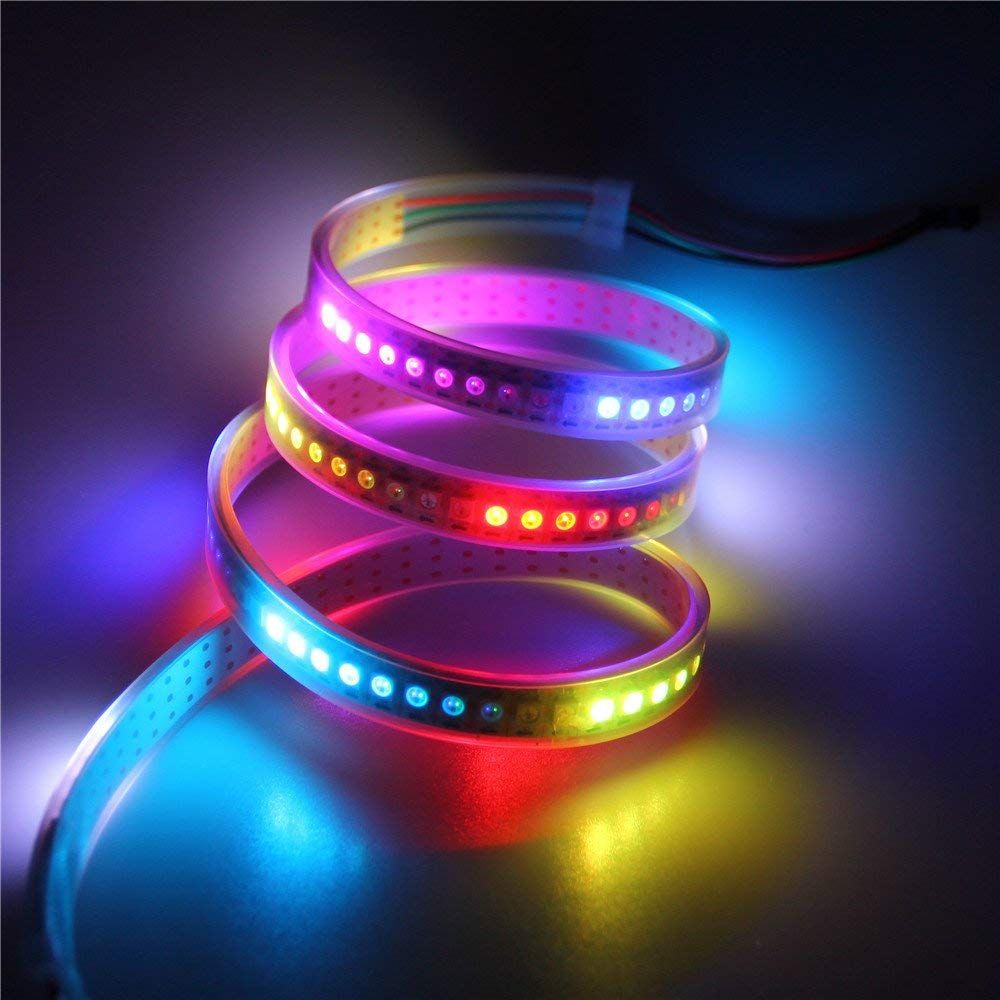 Aclorol Ws2812b 144 Pixels Rgb Led Strip Individually Addressable Digital Weatherproof 60 1m 33ft 5v Ws2812