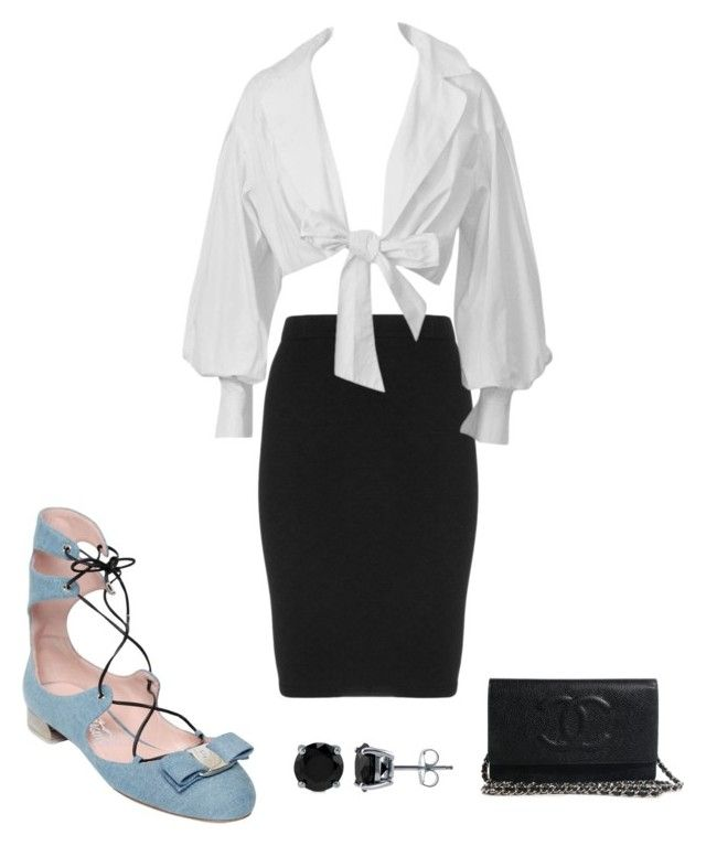 """Untitled #3904"" by bbossboo on Polyvore featuring Salvatore Ferragamo, Manon Baptiste and BERRICLE"