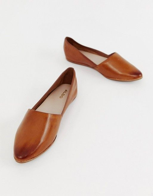 ALDO Blanchette leather flat shoes in