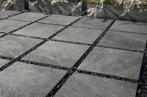 Carrelage Exterieur De Jardin De Sol En Gres Cerame Outfloor20 Stone Mix Quarzite Grey Italgraniti Group S P A Avec Images Plancha Exterieur Tuile Dalle Sur Plot