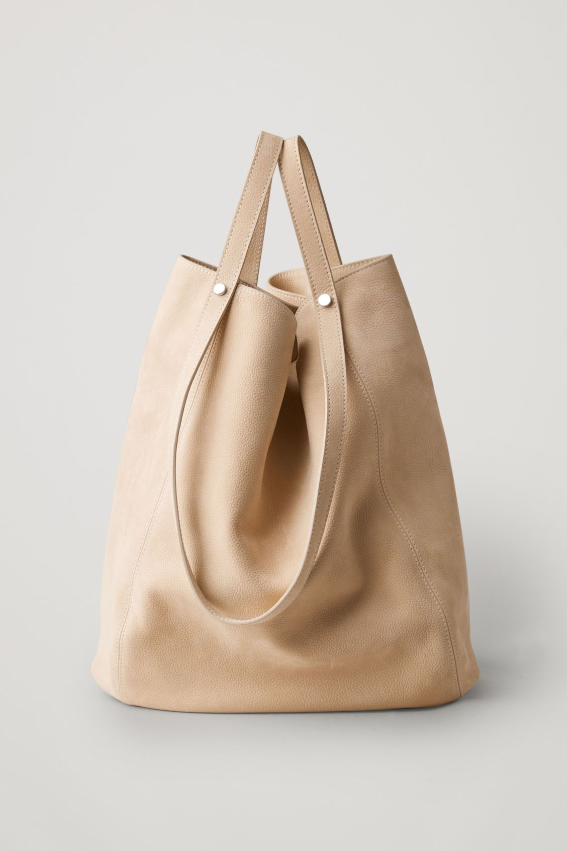 6bef50d8762 VERSATILE LEATHER SHOPPER - Beige - Bags - COS | COS Spring Wishlist ...