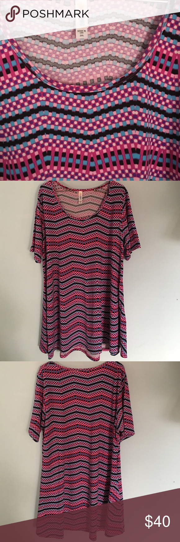 LuLaRoe 2XL Perfect T LuLaRoe Perfect T in size 2XL. This shirt is in excellent Like New Condition. Washed and worn 1x to LLR standard. LuLaRoe Tops Tees - Short Sleeve