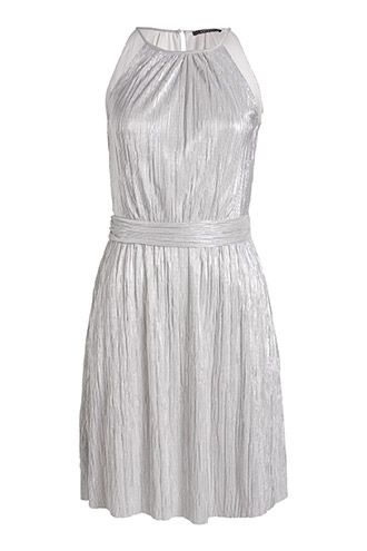 Esprit - Glänzendes Plissee-Kleid im Online Shop kaufen ...