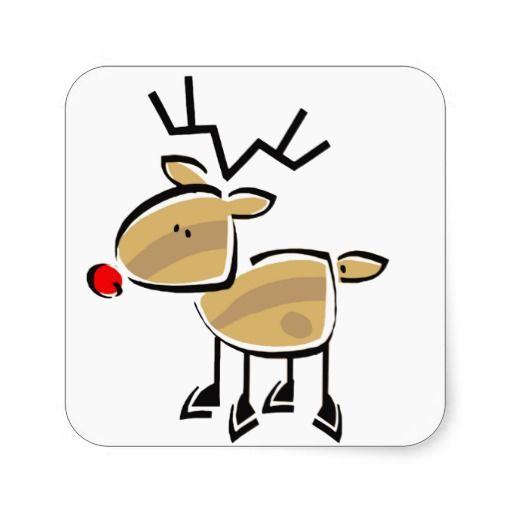 Stick Figure Christmas Reindeer