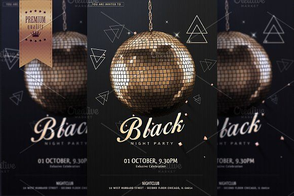 Night Club Party Flyer Template @creativework247 Templates - Invitation Flyer Template