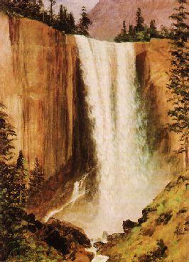 Yosemite Falls, Albert Bierstadt Check more at https://artunframed.com/Gallery/shop/yosemite-falls/