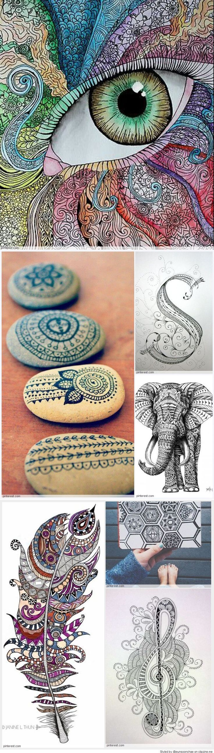 Zentangle Pattern Ideas Cool Decorating