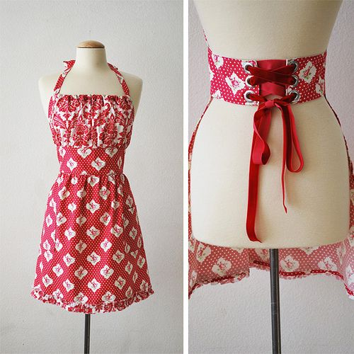Valentine Corset Apron   Anyone Want To Make This One For Me?