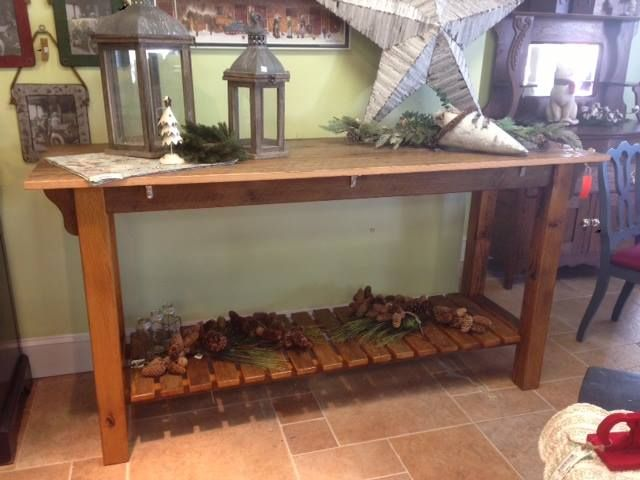 Our 6ft Rustic Oak Barnwood Island For Sale At Belle Patri, Jarrettsville,  MD.