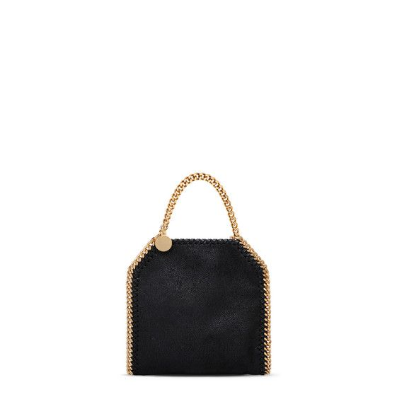 63ea4abf02 Black Falabella Shaggy Deer Tiny Tote - Stella Mccartney Official Online  Store - AW 2016 - 2017