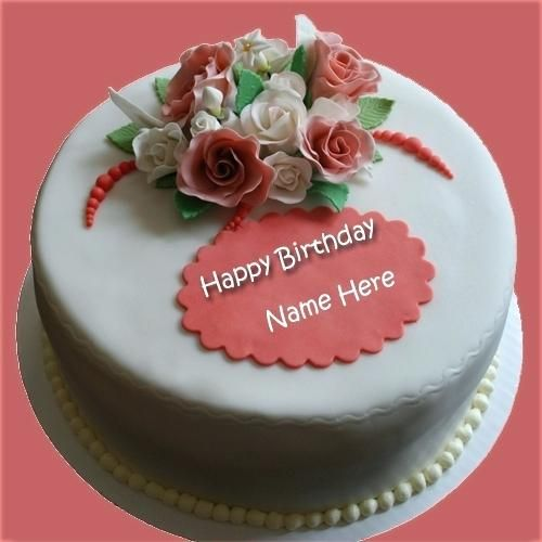 Birthday Cake For Sister With Name Edit Happy Wishes Her To Produce Perfect And