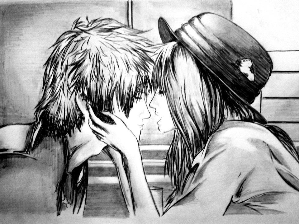 Frasesamor Dibujos De Amor De Anime Con Frases A Lapiz