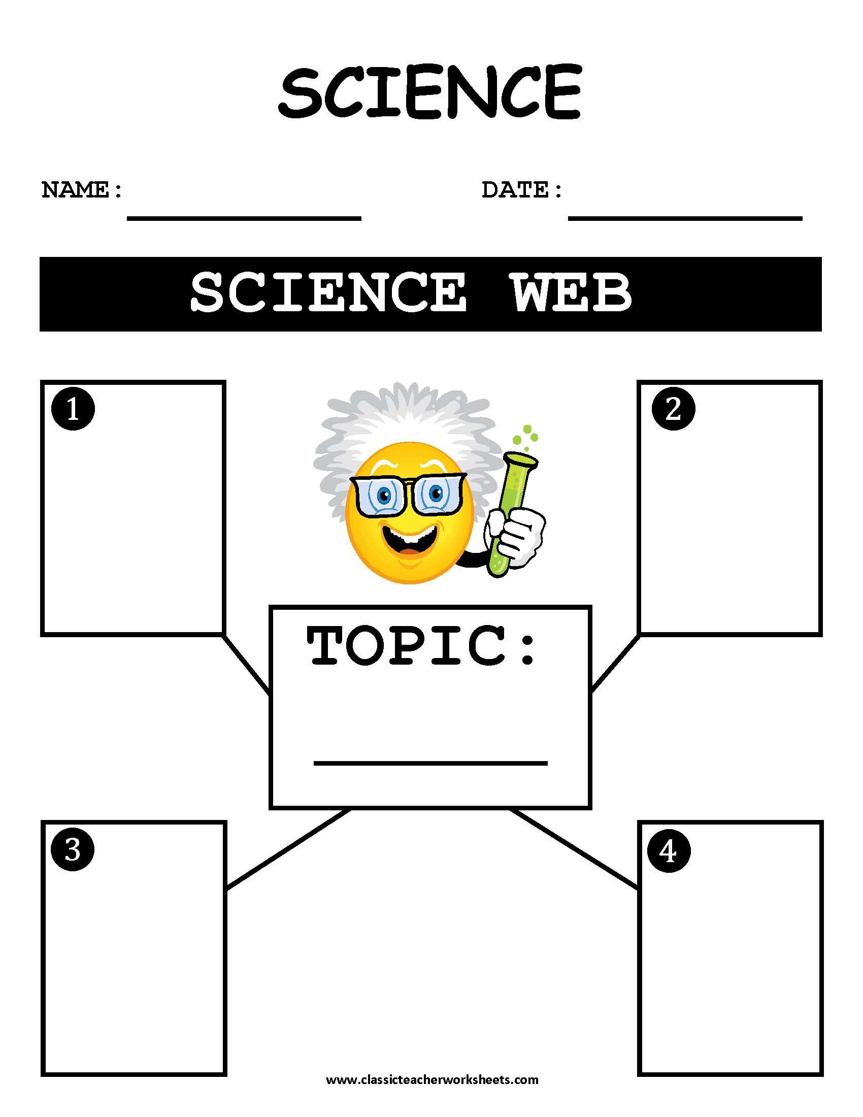 Worksheet Science Web Outline. Check out our collection
