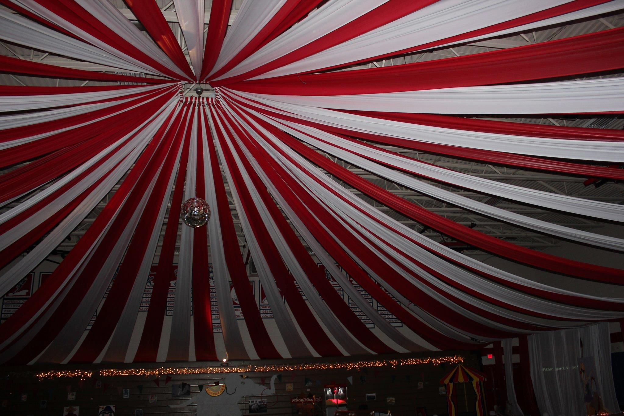 Ceiling drape if this options was allowed at our venue it for Ceiling streamers