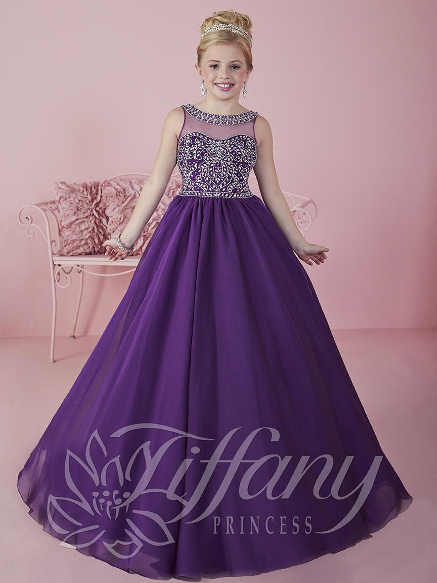 Tiffany Princess 13473 Purple Sweetheart Neckline Pageant Dress ...