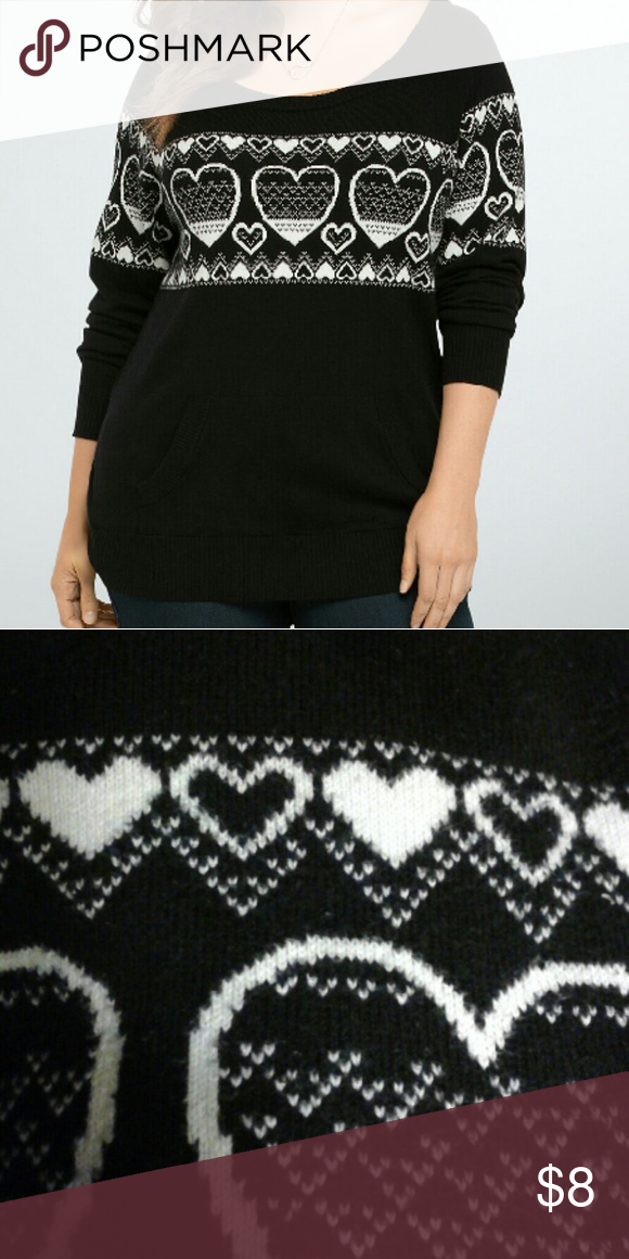 Torrid Fair Isle Heart Sweater