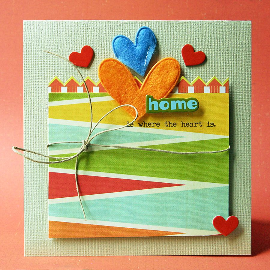Home Is Where the Heart Is card - Scrapbook.com
